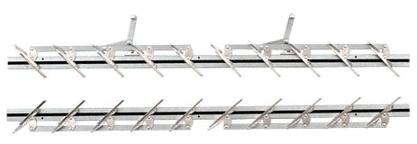 36 inch Jalousie Strip Hardware - 10 Blades - CRL JSH36 1 Pair