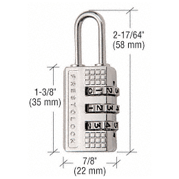 CRL Brushed Nickel Plated Traditional Combination Lock CRL K3470BN