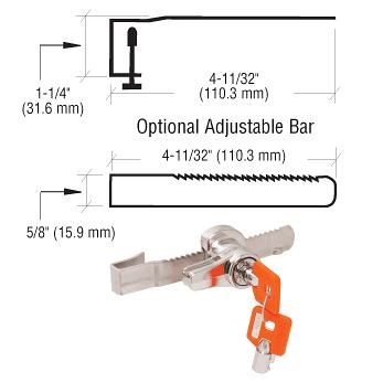 CRL Optional Adjustable Bar for the KML48 Lock CRL KML48AB