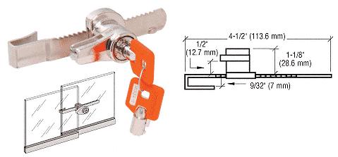 CRL Keymatic Sliding Glass Door Ratchet Lock CRL KML48