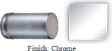 CHROME COLONNADE STYLE SINGLE-SIDED SHOWER DOOR KNOB - 793FCR