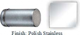 POLISHED STAINLESS STEEL COLONNADE STYLE SINGLE-SIDED SHOWER DOOR KNOB - 793FSS