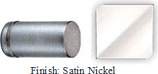SATIN NICKEL COLONNADE STYLE SINGLE-SIDED SHOWER DOOR KNOB - 793FSN