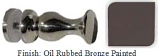OIL RUBBED BRONZE PAINTED STYLISH SINGLE-SIDED SHOWER DOOR KNOB - 793KKORB