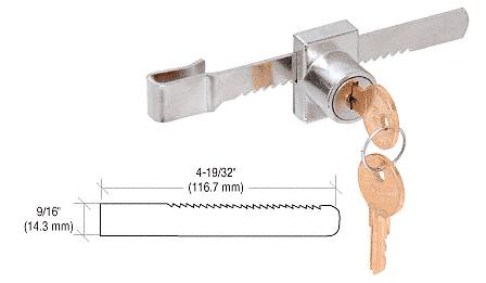 """CRL Chrome Plated """"Pick-Proof"""" Sliding Glass Door Lock CRL KV965"""
