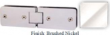 Brushed Nickel Kars 786 Series Heavy Duty with Round Edges 180 Degree Glass-To-Glass Hinge - KA786A_BN