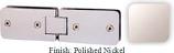 Polished Nickel Kars 786 Series Heavy Duty with Round Edges 180 Degree Glass-To-Glass Hinge - KA786A_PN