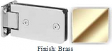 Brass Kars 786 Series Heavy Duty with Round Edges Wall Mount Full Back Plate Hinge - KA786B_BR