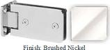 Brushed Nickel Kars 786 Series Heavy Duty with Round Edges Wall Mount Full Back Plate Hinge - KA786B_BN