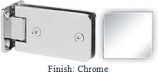 Chrome Kars 786 Series Heavy Duty with Round Edges Wall Mount Full Back Plate Hinge - KA786B_CR