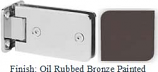Oil Rubbed Bronze Painted Kars 786 Series Heavy Duty with Round Edges Wall Mount Full Back Plate Hinge - KA786B_ORB