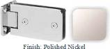 Polished Nickel Kars 786 Series Heavy Duty with Round Edges Wall Mount Full Back Plate Hinge - KA786B_PN