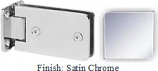 Satin Chrome Kars 786 Series Heavy Duty with Round Edges Wall Mount Full Back Plate Hinge - KA786B_SCR