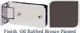 Oil Rubbed Bronze Painted Kars 786 Series Heavy Duty with Round Edges Wall Mount Offset Short Back Plate Hinge - KA786C_ORB