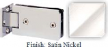 Satin Nickel Kars 786 Series Heavy Duty with Round Edges Wall Mount Offset Short Back Plate Hinge - KA786C_SN