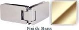 Brass Kars 786 Series Heavy Duty with Round Edges 90 Degree Glass-To-Glass Hinge - KA786D_BR