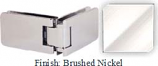 Brushed Nickel Kars 786 Series Heavy Duty with Round Edges 90 Degree Glass-To-Glass Hinge - KA786D_BN