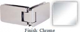 Chrome Kars 786 Series Heavy Duty with Round Edges 90 Degree Glass-To-Glass Hinge - KA786D_CR
