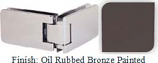 Oil Rubbed Bronze Painted Kars 786 Series Heavy Duty with Round Edges 90 Degree Glass-To-Glass Hinge - KA786D_ORB