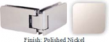 Polished Nickel Kars 786 Series Heavy Duty with Round Edges 90 Degree Glass-To-Glass Hinge - KA786D_PN