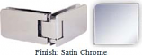 Satin Chrome Kars 786 Series Heavy Duty with Round Edges 90 Degree Glass-To-Glass Hinge - KA786D_SCR