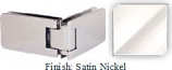 Satin Nickel Kars 786 Series Heavy Duty with Round Edges 90 Degree Glass-To-Glass Hinge - KA786D_SN