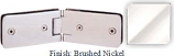 Brushed Nickel Kars 786 Series Heavy Duty with Round Edges 135 Degree Glass-To-Glass Hinge - KA786E_BN