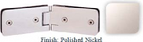 Polished Nickel Kars 786 Series Heavy Duty with Round Edges 135 Degree Glass-To-Glass Hinge - KA786E_PN