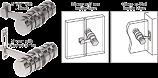 Brushed Nickel 180 Degree Knob Latch - CRL LAT001BN