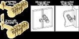 Brass 180 Degree Knob Latch - CRL LAT001BR