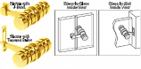 Gold Plated 180 Degree Knob Latch - CRL LAT001GP