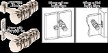 Polished Nickel 180 Degree Knob Latch - CRL LAT001PN