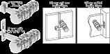 Satin Chrome 180 Degree Knob Latch - CRL LAT001SC