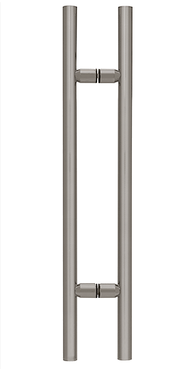 "CRL Brushed Nickel 24"" Ladder Style Pull Handle CRL LP24BN"