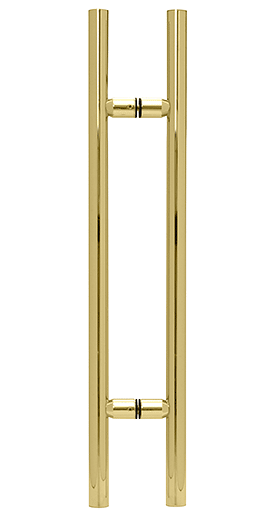 "CRL Polished Brass 24"" Ladder Style Pull Handle CRL LP24BR"