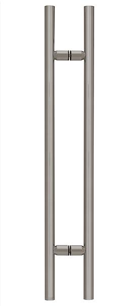 "CRL Brushed Nickel 48"" Ladder Style Pull Handle CRL LP48BN"