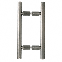 "CRL Antique Brushed Nickel 6"" Ladder Style Back-to-Back Pull Handle CRL LP6X6ABN"
