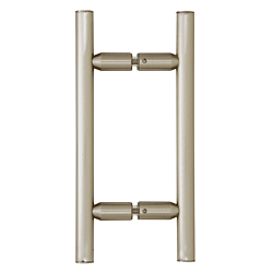 "CRL Brushed Nickel 6"" Ladder Style Back-to-Back Pull Handle CRL LP6X6BN"