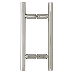 "CRL Polished Chrome 6"" Ladder Style Back-to-Back Pull Handle CRL LP6X6CH"