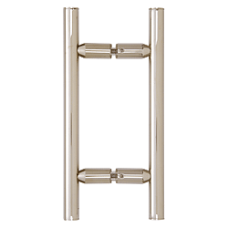 "CRL Polished Nickel 6"" Ladder Style Back-to-Back Pull Handle CRL LP6X6PN"