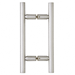 "CRL Satin Chrome 6"" Ladder Style Back-to-Back Pull Handle CRL LP6X6SC"