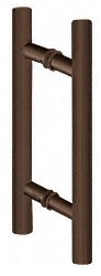 Oil Rubbed Bronze 8 Inch Ladder Pull Back-to-Back Pull Handle - CRL LP8X8ORB