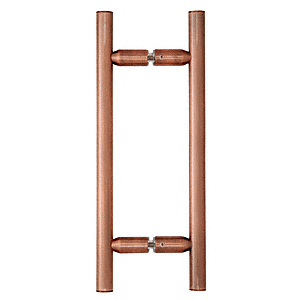 """CRL Antique Brushed Copper 8"""" Ladder Style Back-to-Back Pull Handles CRL LP8X8ABC0"""