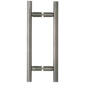 "CRL Antique Brushed Nickel 8"" Ladder Style Back-to-Back Pull Handles CRL LP8X8ABN"