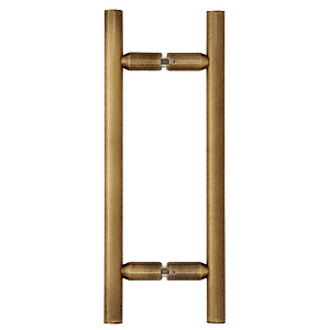 """CRL Antique Brass 8"""" Ladder Style Back-to-Back Pull Handles CRL LP8X8ABR"""