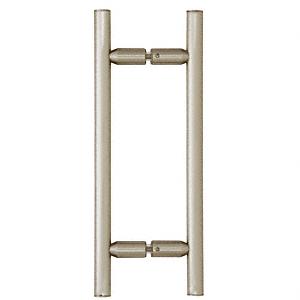"CRL Brushed Nickel 8"" Ladder Style Back-to-Back Pull Handles CRL LP8X8BN"