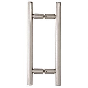 "CRL Brushed Satin Chrome 8"" Ladder Style Back-to-Back Pull Handles CRL LP8X8BSC"