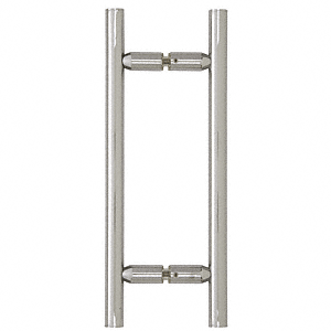 """CRL Polished Chrome 8"""" Ladder Style Back-to-Back Pull Handles CRL LP8X8CH"""