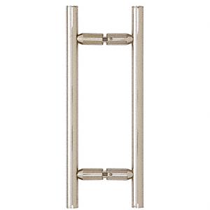 "CRL Polished Nickel 8"" Ladder Style Back-to-Back Pull Handles CRL LP8X8PN"