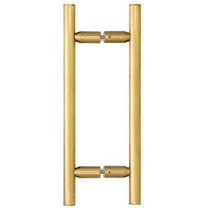 "CRL Satin Brass 8"" Ladder Style Back-to-Back Pull Handles CRL LP8X8SB"